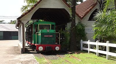 Le petit train de l'habitation Saint-James