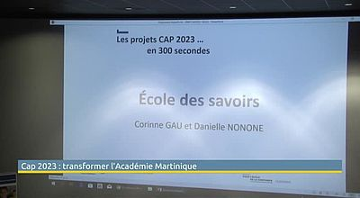 Cap 2023: transformer l'Académie Martinique