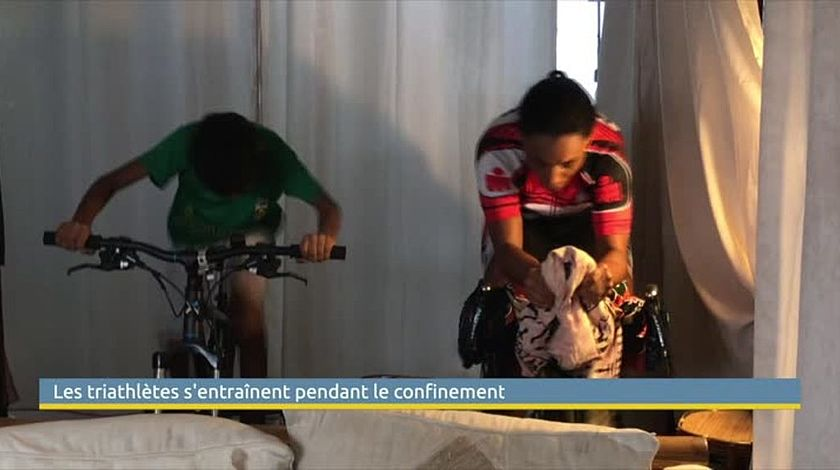Triathlètes en confinement