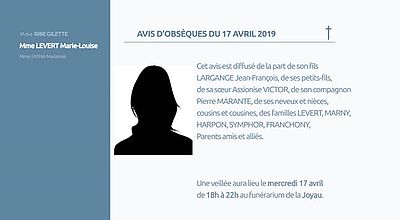 AVIS D'OBSEQUES 17avril 2019